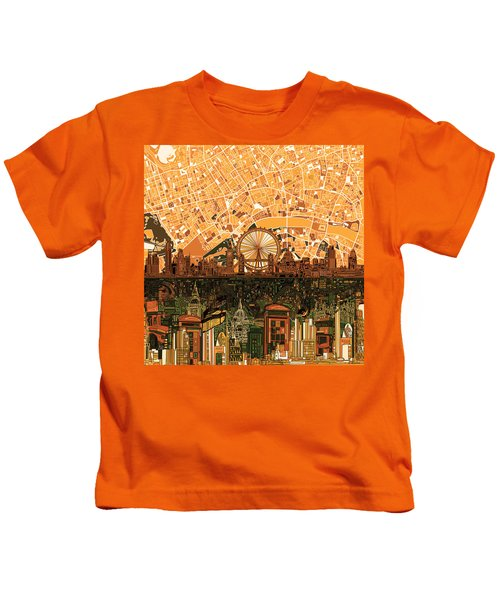 London Skyline Abstract 7 Kids T-Shirt