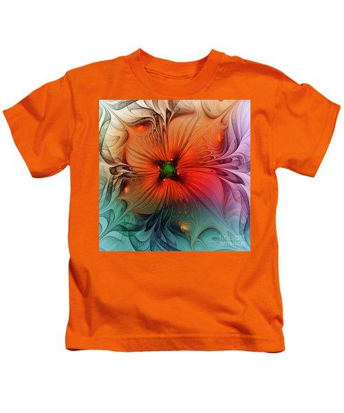 Luxury Blossom Dressed In Velvet And Silk Kids T-Shirt