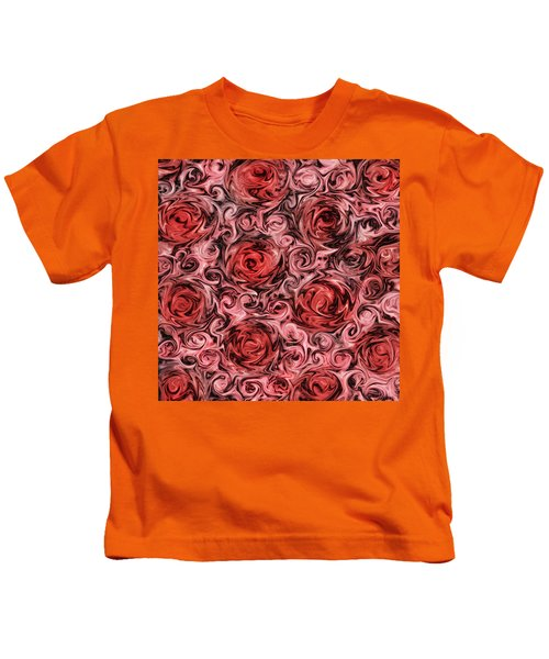 Marsala Roses Kids T-Shirt