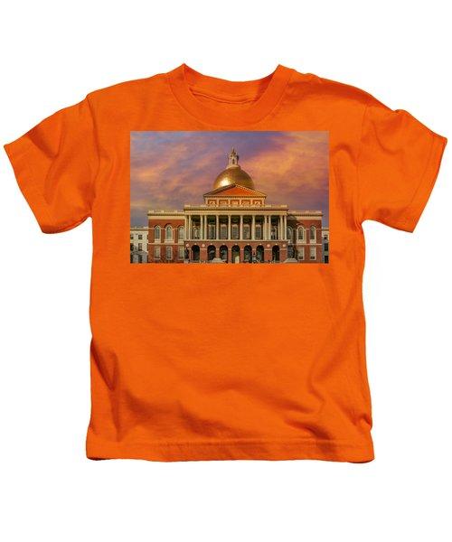 Massachusetts State House Kids T-Shirt