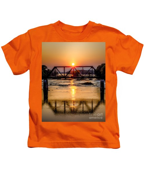 Maumee River At Grand Rapids Ohio Kids T-Shirt