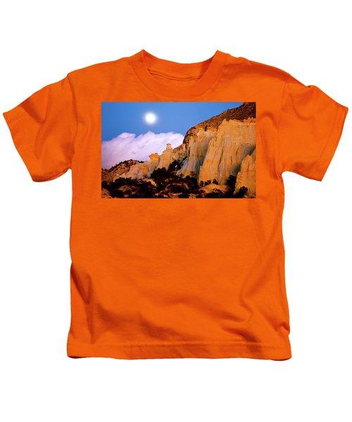 Moonrise Over The Kaiparowits Plateau Utah Kids T-Shirt
