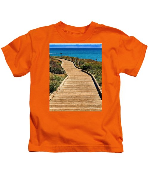 Moonstone Beach Park By Diana Sainz Kids T-Shirt