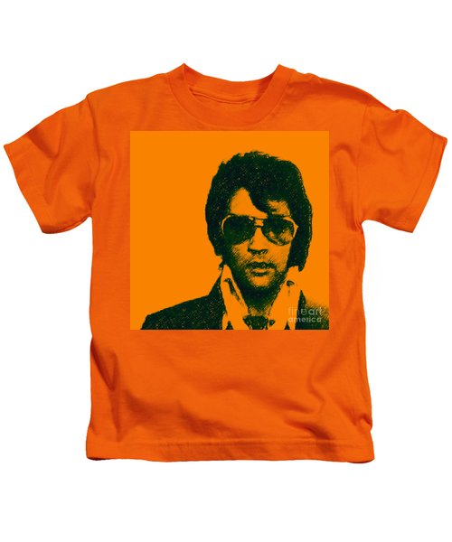 Mugshot Elvis Presley Square Kids T-Shirt