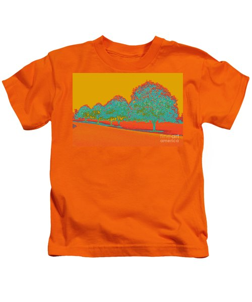 Neon Trees In The Fall Kids T-Shirt