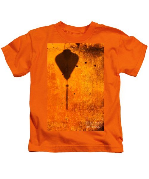 Ochre Wall Lantern Shadow Kids T-Shirt