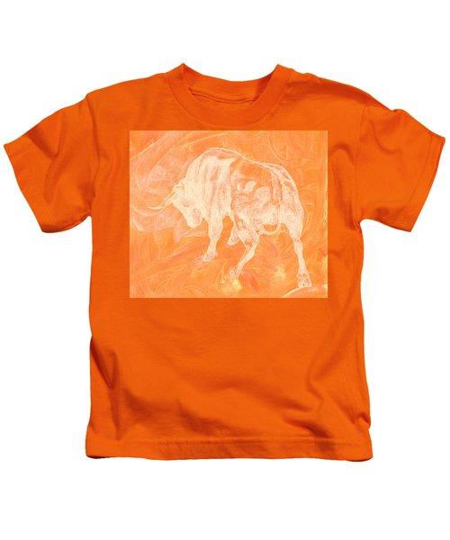 Orange Bull Negative Kids T-Shirt