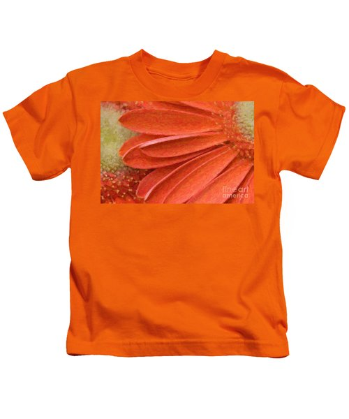 Orange Gerber Daisy Painting Kids T-Shirt