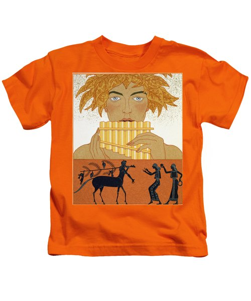 Pan Piper Kids T-Shirt by Georges Barbier