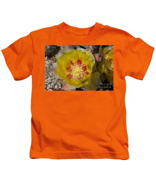 Prickly Pear Flower, Big Bend National Kids T-Shirt