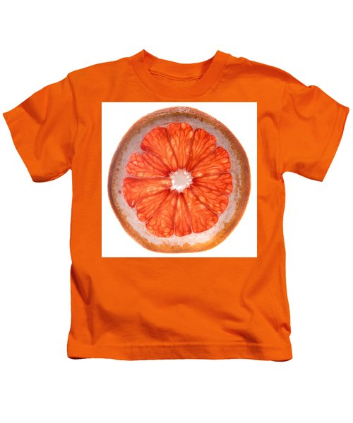 Red Grapefruit Kids T-Shirt by Steve Gadomski