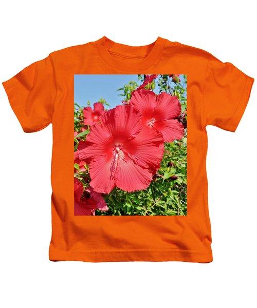 Red Hibiscus Kids T-Shirt