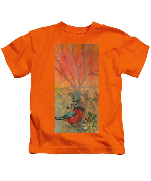 Red Peace Bird Kids T-Shirt