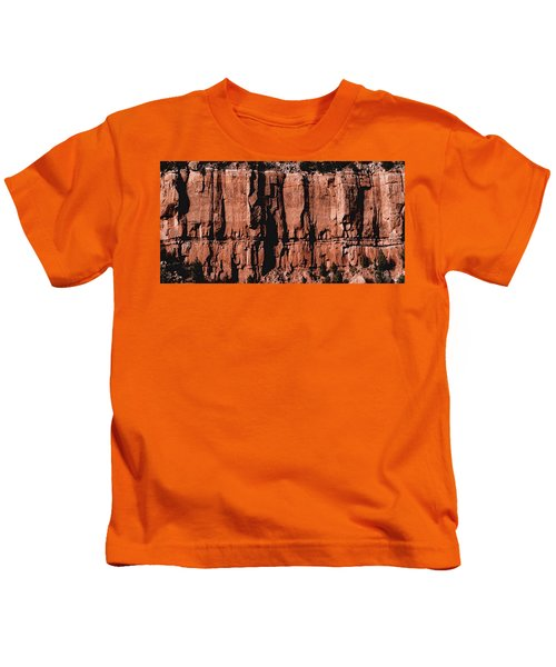 Red Rock Wall Kids T-Shirt