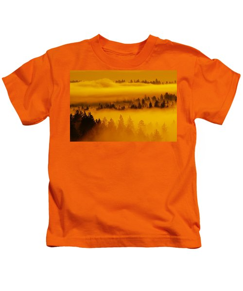 River Fog Rising Kids T-Shirt