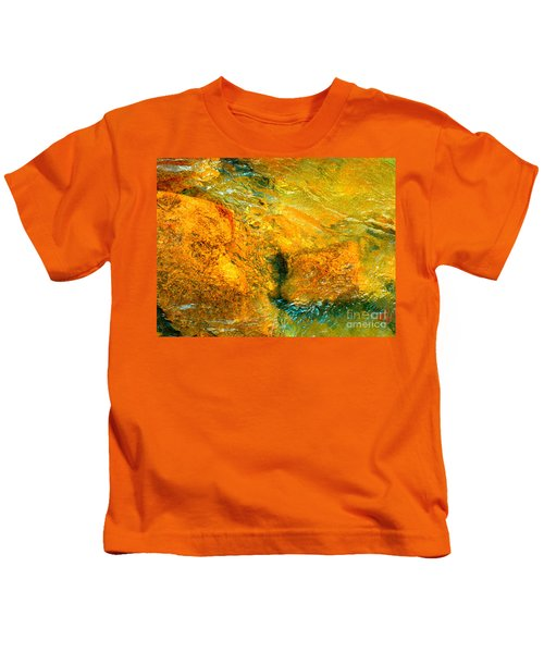 Rocks Under The Stream By Christopher Shellhammer Kids T-Shirt