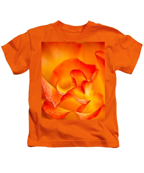 Rose Petals Closeup Kids T-Shirt
