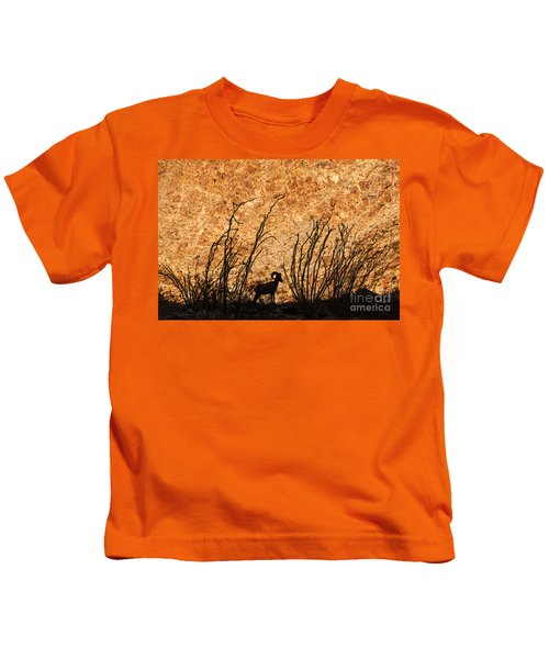 Silhouette Bighorn Sheep Kids T-Shirt