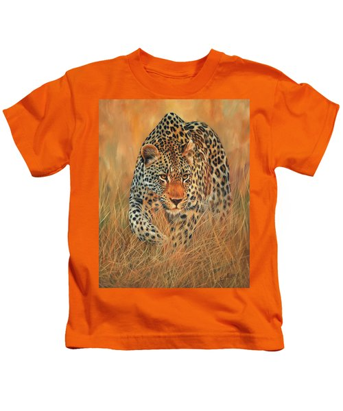 Stalking Leopard Kids T-Shirt