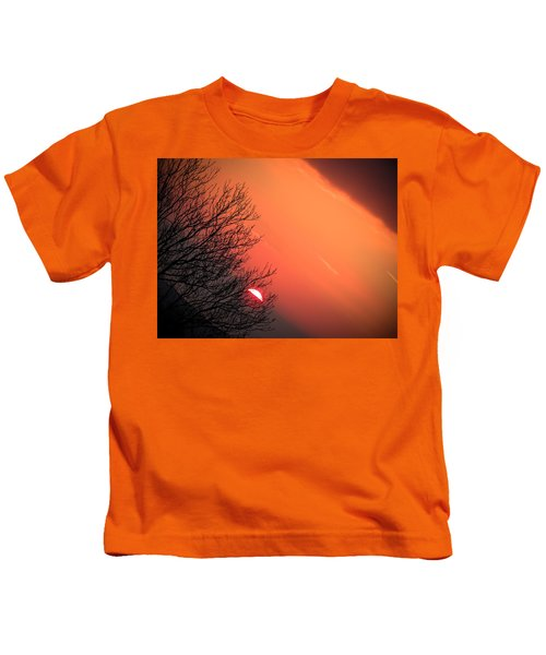 Sunrise And Hibernating Tree Kids T-Shirt