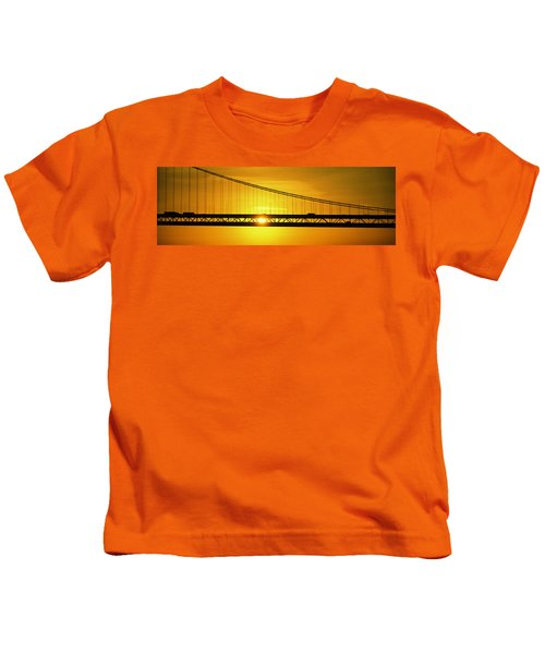 Sunrise Bay Bridge San Francisco Ca Usa Kids T-Shirt