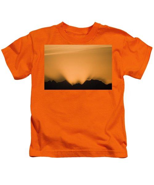 Sunset, Glacier Bay National Park Kids T-Shirt