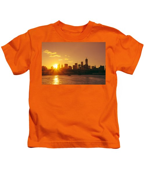 Sunset - New York City Kids T-Shirt