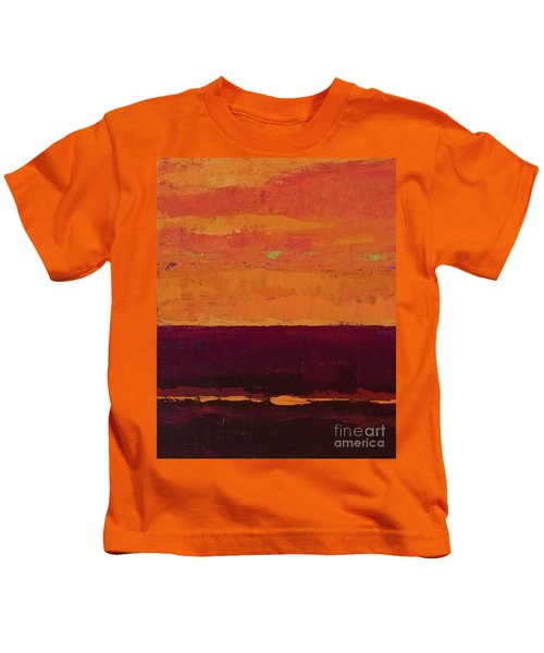 Sunset On The Pier Kids T-Shirt