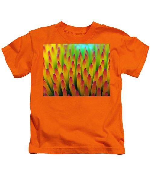 Super Macro Of Echinacea Cone Flower Kids T-Shirt