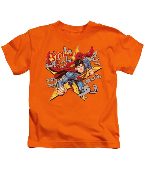 Superman - Stars And Chains Kids T-Shirt