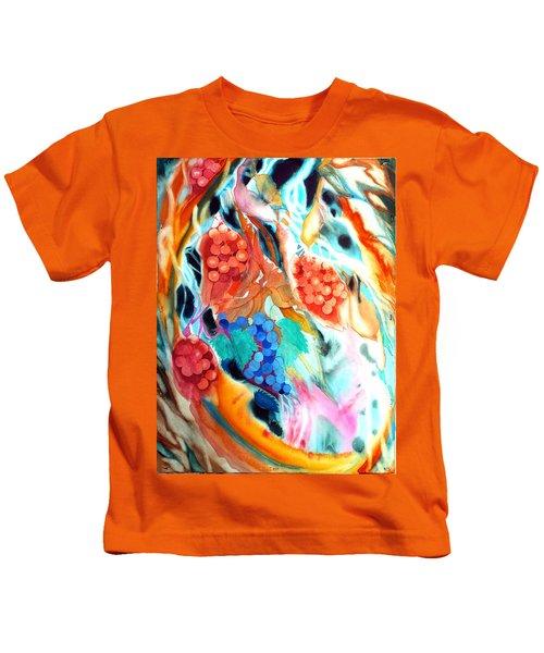 Swirling Grapes Kids T-Shirt