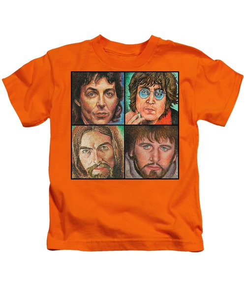 The Beatles Quad Kids T-Shirt