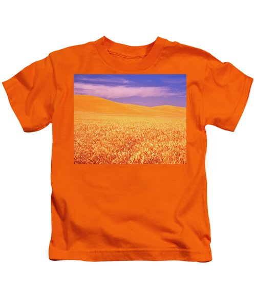 The Palouse Steptoe Butte Kids T-Shirt