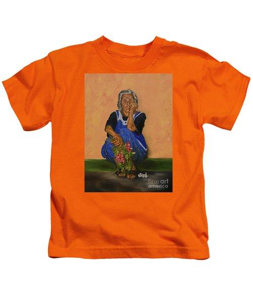 The Parga Flower Seller Kids T-Shirt