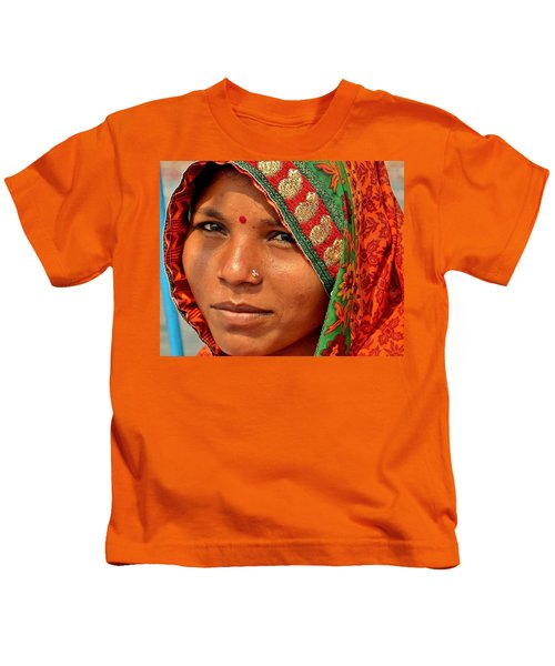 The Pride Of Indian Womenhood Kids T-Shirt