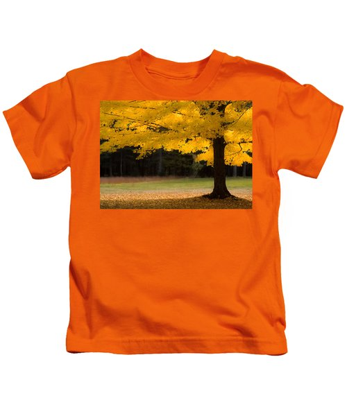Tree Canopy Glowing In The Morning Sun Kids T-Shirt