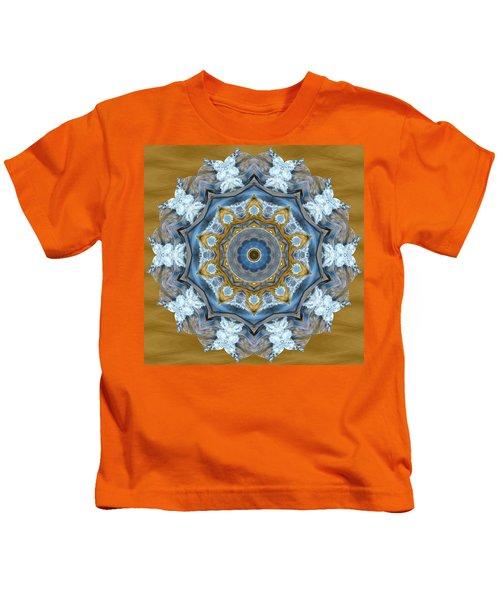 Water Patterns Kaleidoscope Kids T-Shirt
