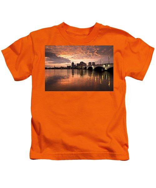 West Palm Beach Skyline At Sunset Kids T-Shirt