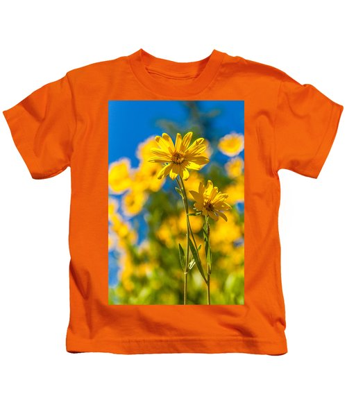Wildflowers Standing Out Kids T-Shirt