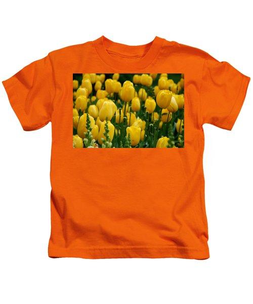 Yellow Tulip Sea Kids T-Shirt