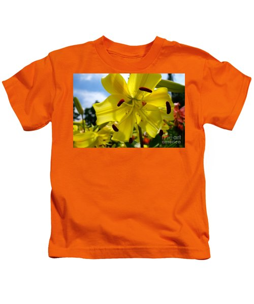 Yellow Whopper Lily 2 Kids T-Shirt by Jacqueline Athmann