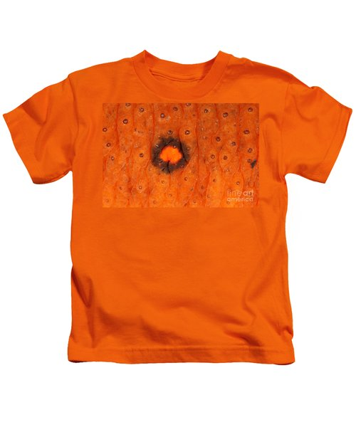 Skin Of Eastern Newt Kids T-Shirt by Ted Kinsman