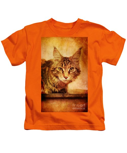 Cat Looking Sinister Kids T-Shirt