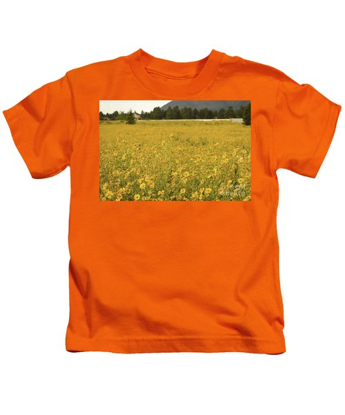 Field Of Yellow Daisy's Kids T-Shirt