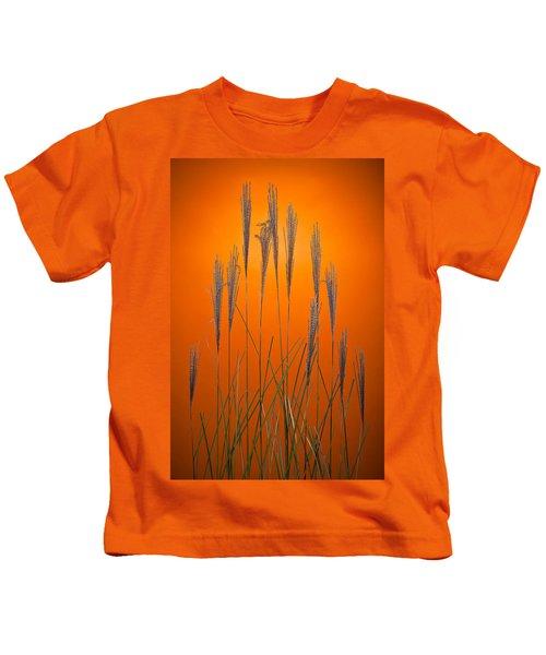 Fountain Grass In Orange Kids T-Shirt