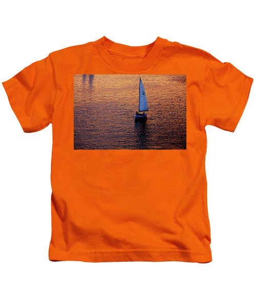 Sunset Sailing Kids T-Shirt