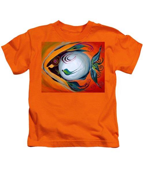 Teal Fish With Orange Kids T-Shirt