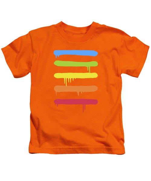 Trendy Cool Graffiti Tag Lines Kids T-Shirt