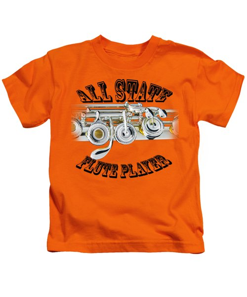 All State Flute Player Kids T-Shirt