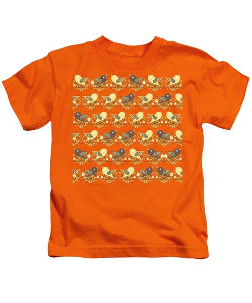 Birds Pattern Kids T-Shirt